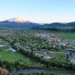A broad shot of Carbondale, with Mt. Sopris in the background